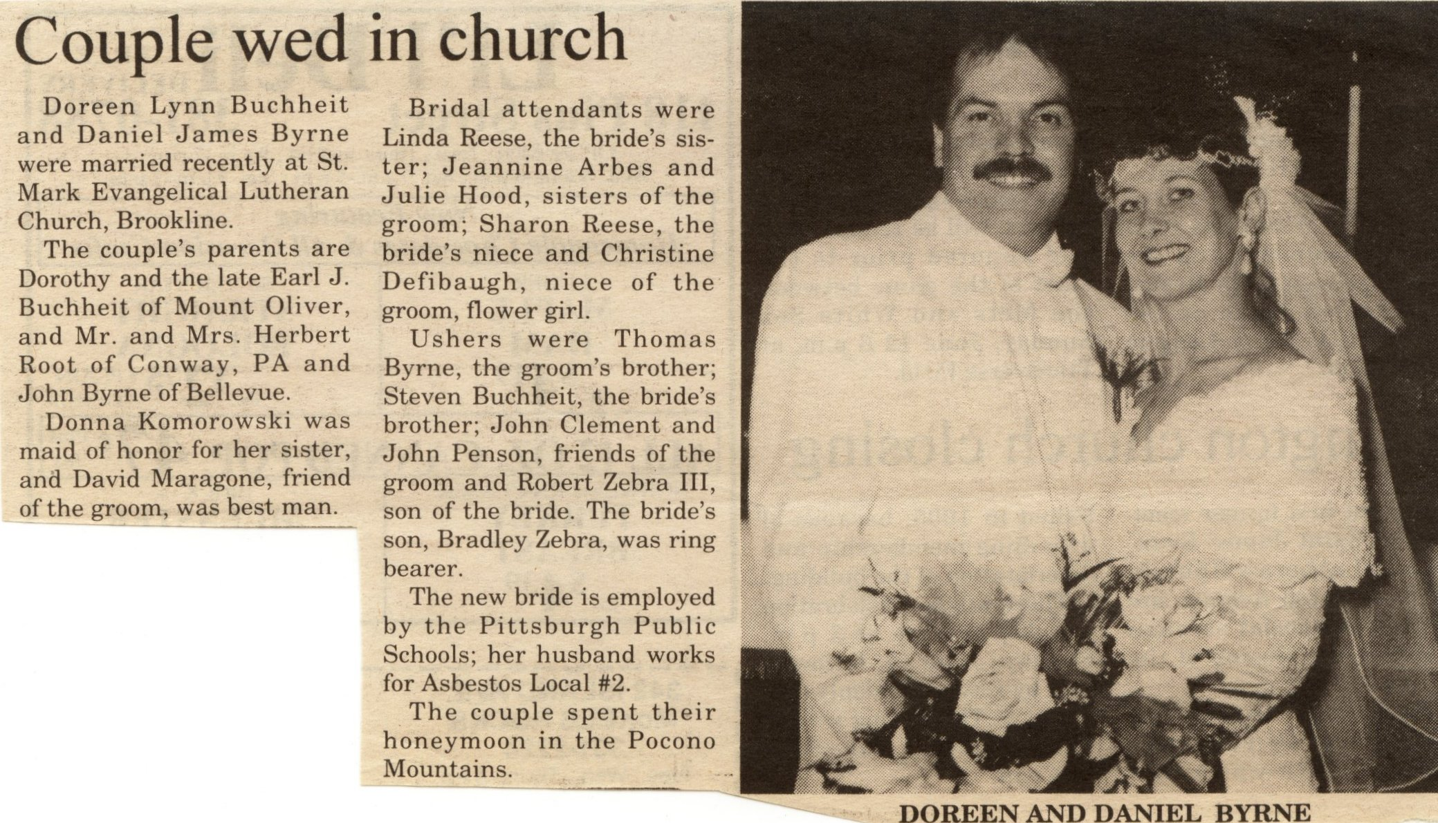 Wedding Announcements Newspaper.Buchheit History Online